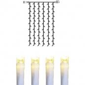 Гирлянда занавес-расширение, 1,0 х 1,5 м, теплый белый, серия SYSTEM DECOR