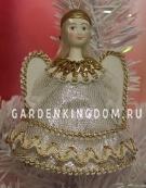 """Кукла подвесная малая """"Ангелочек"""", серебро"""