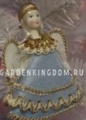 """Кукла подвесная малая """"Ангелочек"""", голубой"""