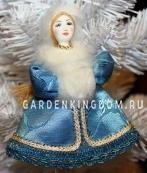 """Кукла подвесная малая """"Снегурочка"""" в шапочке"""
