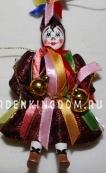 Клоун подвесной малый с лентами