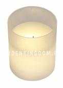 Свеча в стеклянном стакане, 10 см, белый матовый