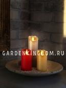 Свеча с эффектом мерцающего пламени, 10 см, таймер, золото