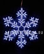 Подвес Снежинка SNOWFLAKE, 100 см, холодный белый