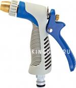 Пистолет поливочный регулируемый с металлическим корпусом и резиновым покрытием
