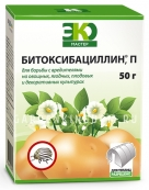 Битоксибациллин, биологический препарат от вредителей на различных культурах (инсектицид), 50 г