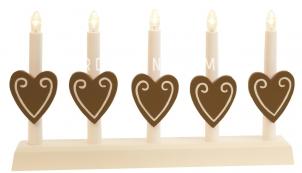 Светильник рождественский MOR ANNA, 21 см, коричневый