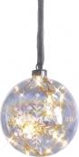 Гирлянда-шар VESTA, 12 см, стекло, белый