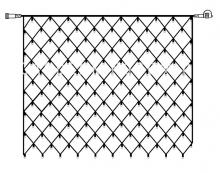 Гирлянда сетка-расширение, 2х1,5 м, холодный белый, серия SYSTEM DECOR