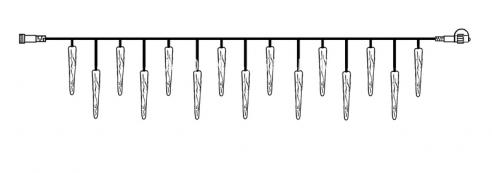 Гирлянда сосульки-расширение, 5х0,25 м, холодный белый, серия SYSTEM DECOR