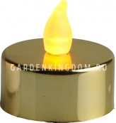 Свеча, 2 шт., 3 см, пластик, золото