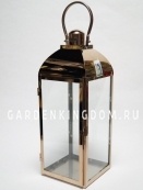 Фонарь - подсвечник, 49 см,  металл, стекло, медный
