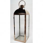 Фонарь - подсвечник, 67 см,  металл, стекло, медный