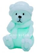 Свеча Медвежонок меняющая цвет, 10,5 см, белый воск