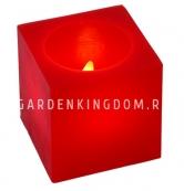 Комплект  свечей кубиков,  3 шт., красный воск