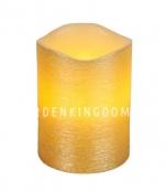 Свеча LINDA, 10 см, таймер, желтый воск
