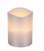 Свеча LINDA, 10 см, таймер, серебряный воск