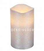 Свеча LINDA, 12,5 см, таймер, серебряный воск