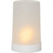 Свеча пластиковая  FLAME CANDLE с движущимся пламенем, высота 14 см, диаметр 9 см, белая