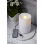 Свеча с пультом и USB-кабелем, водяная, 14 см