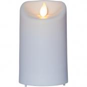 """Свеча пластиковая  M-TWINKLE с эффектом """"живого"""" пламени,  12,5 см, белый"""