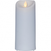 """Свеча пластиковая  M-TWINKLE с эффектом """"живого"""" пламени,  17,5 см, белый"""