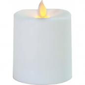 Свеча пластиковая  с эффектом мерцающего пламени,  8,5 см, белая