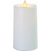 Свеча пластиковая  с эффектом мерцающего пламени,  13,5 см, белая