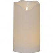 Свеча пластиковая с 3D пламенем FLAMME GRAND, высота 30 см, диаметр 16 см, белая