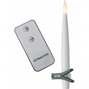 Комплект свечей PAULINA с прищепками и пультом, 15,5 см, 10 шт., пластик
