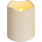 Свеча пластиковая сенсорная,  12,5 см, бежевый
