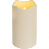 Свеча пластиковая сенсорная,  18 см, бежевый