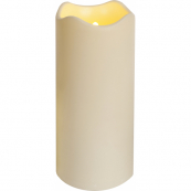 Свеча пластиковая сенсорная,  23 см, бежевый