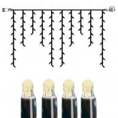 Гирлянда сосульки-расширение, 2х1 м, теплый белый, черный провод, серия SYSTEM LED