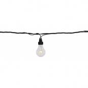 Гирлянда провод-расширение с лампочками, 5 м, 10 LED ламп, теплый белый, серия SYSTEM LED