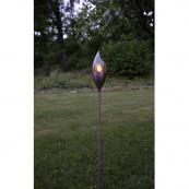 Садовый светильник OLYMPOS Solar energy, 115 см, медный цвет