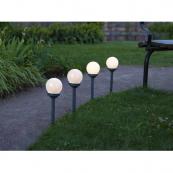 Садовые светильники GLOBUS Solar energy, 4 штуки, диаметр 10 см, высота 27 см
