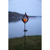 Садовый светильник MELILLA Solar energy, 70 см, янтарный