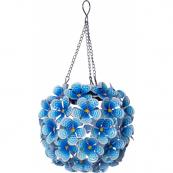 Садовый светильник на солнечных батареях  HORTENSIA Solar energy, диаметр 16 см, голубой