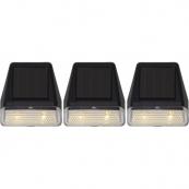 Светильники WALLY MINI Solar energy для подсветки здания, 3 штуки, ширина 7 см, высота 7,5 см
