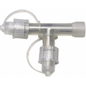 Соединение-разветвитель Т-образное ROPE, 10 см, прозрачный, серия SYSTEM LED
