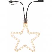 Звезда-расширение, 36 лампочек, 28 см, теплый желтый, серия SYSTEM EXPO