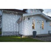 Светильник - проектор для улицы LEDLIGHT с таймером, 24 см, цвет свечения - холодный белый