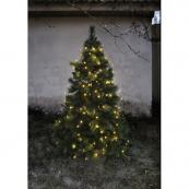 Гирлянда для елки TREE LIGHT, 8 нитей по 2 м, 160 ламп, теплый белый, черный провод