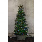 Гирлянда для елки TREE LIGHT, 8 нитей по 2 м, 160 ламп, разноцветный, черный провод