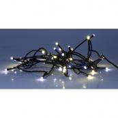 Гирлянда для улицы, 40 ламп, холодный белый и теплый желтый, черный провод, серия SERIE LED