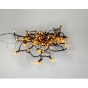 Гирлянда для улицы, 80 ламп, 5,6 м, золотистый теплый белый, черный провод, серия SERIE LED