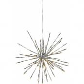 Светильник декоративный для улицы FIREWORK OUTDOOR с эффектом мигания, 30 см, серебрянный