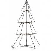 Светильник FOLDY  для улицы, высота 135 см, ширина 90 см, черный, теплый белый