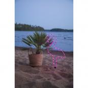 Светильник силуэт фламинго TUBE для улицы на батарейках, 63 см, розовый